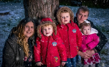 Christmas inspired snow photos. Family together