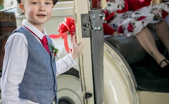 Opening the door to the Rolls Royce