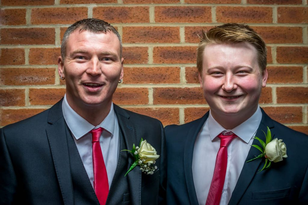 Groom and Best man in Wedding photography East Dereham Registry Office Norfolk