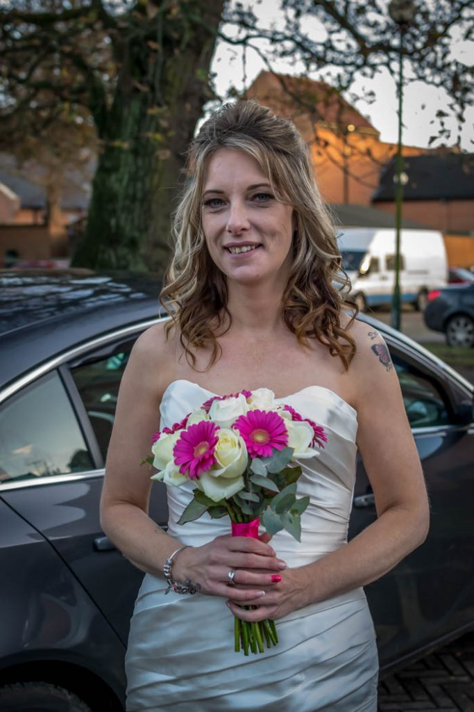 Bride in Wedding photography East Dereham Registry Office Norfolk