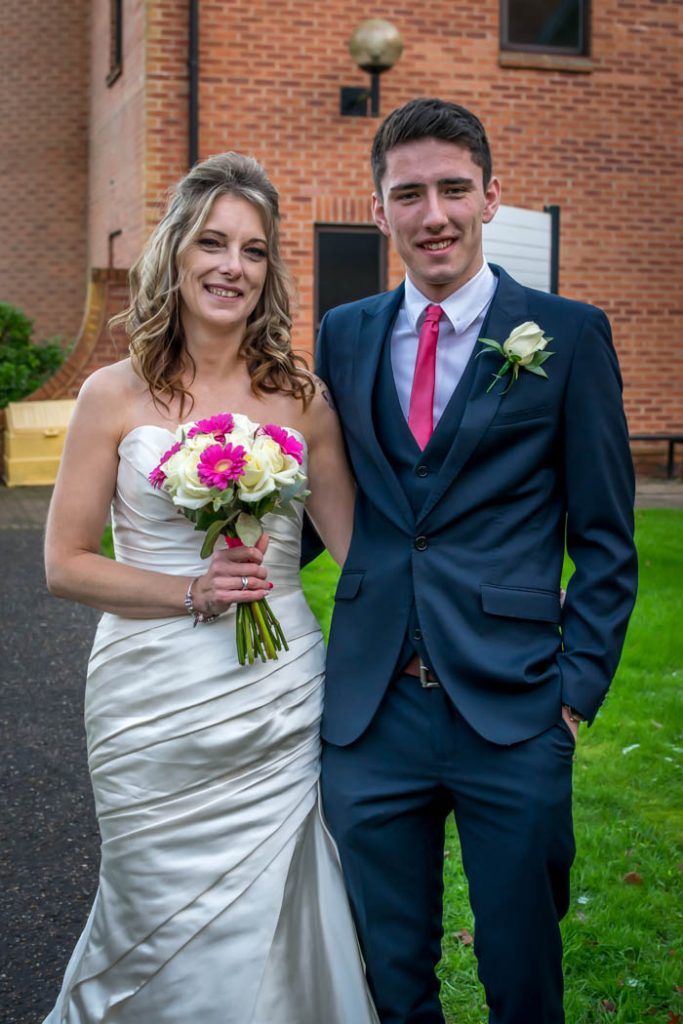 Bride and Honorary Father of the Bride in Wedding photography East Dereham Registry Office Norfolk
