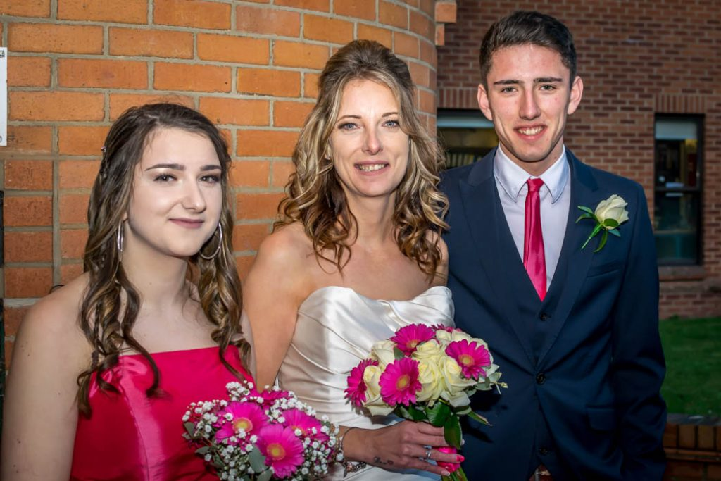 Bride bridesmaid Father of the Bride in Wedding photography East Dereham Registry Office Norfolk