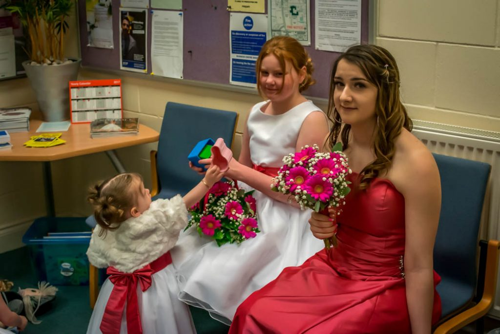 Bridesmaids in Wedding photography East Dereham Registry Office Norfolk