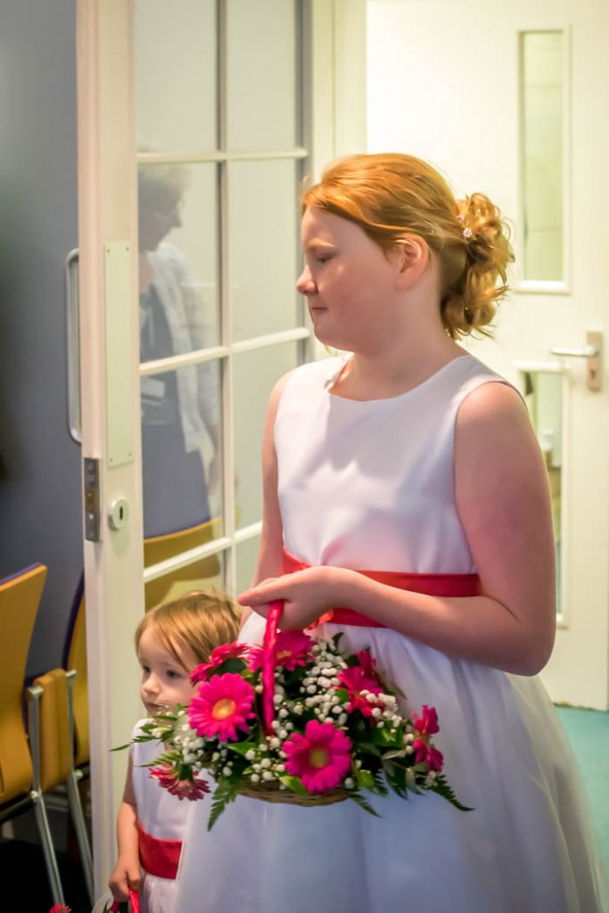 Bridesmaid in Wedding photography East Dereham Registry Office Norfolk