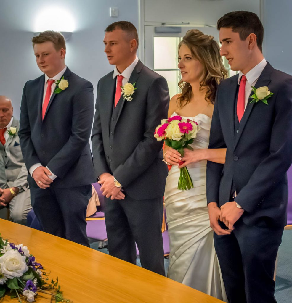 bride and groom in Wedding photography East Dereham Registry Office Norfolk