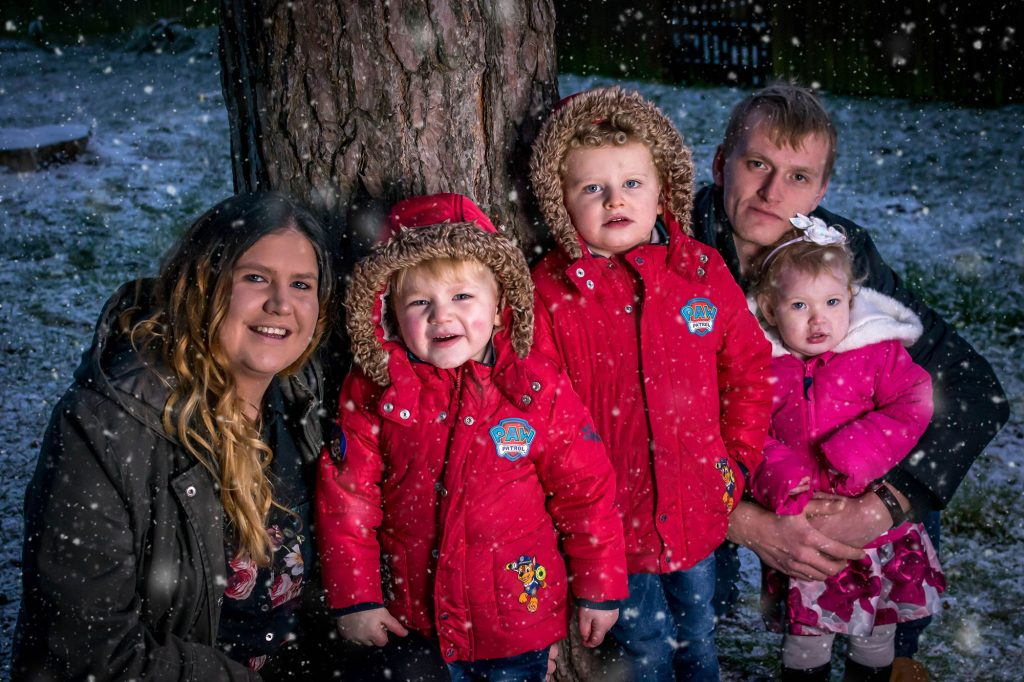 snow, christmas, family together