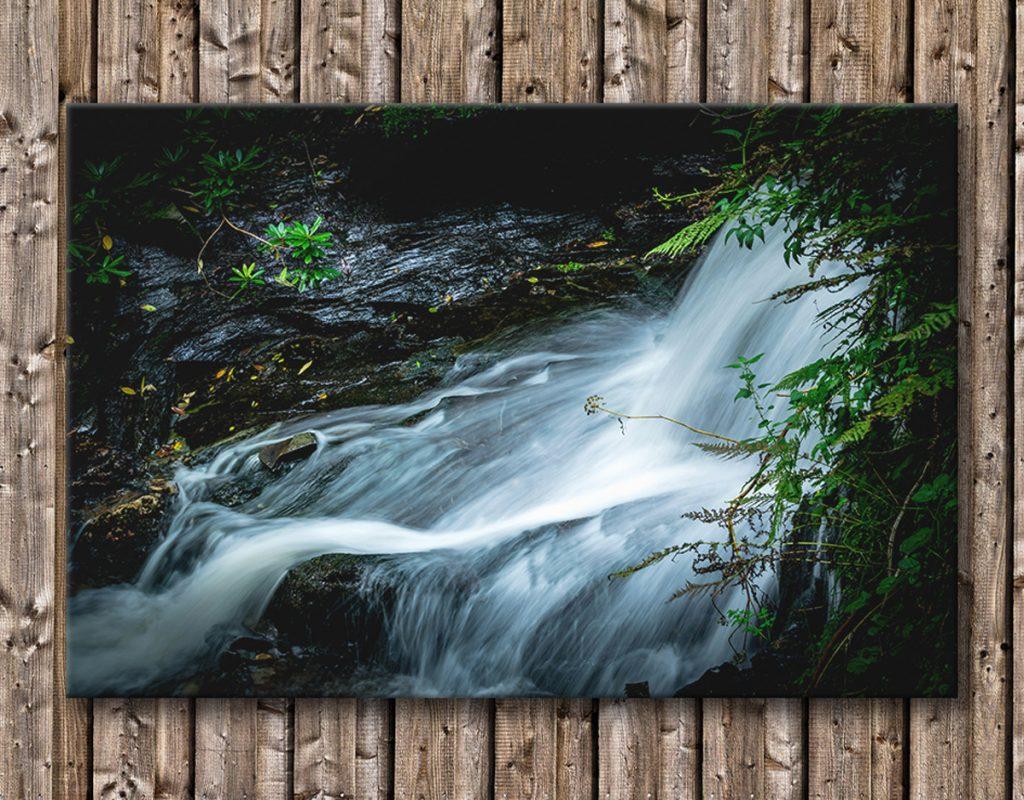 Waterfall Cornwall long exposure canvas