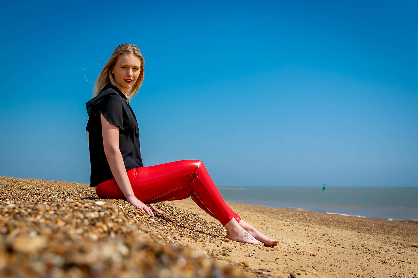 Beach fashion in Suffolk