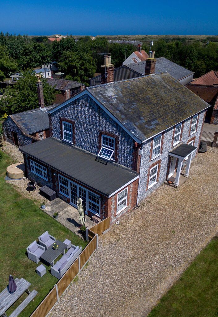 Drone Photography Farmhouse North Norfolk