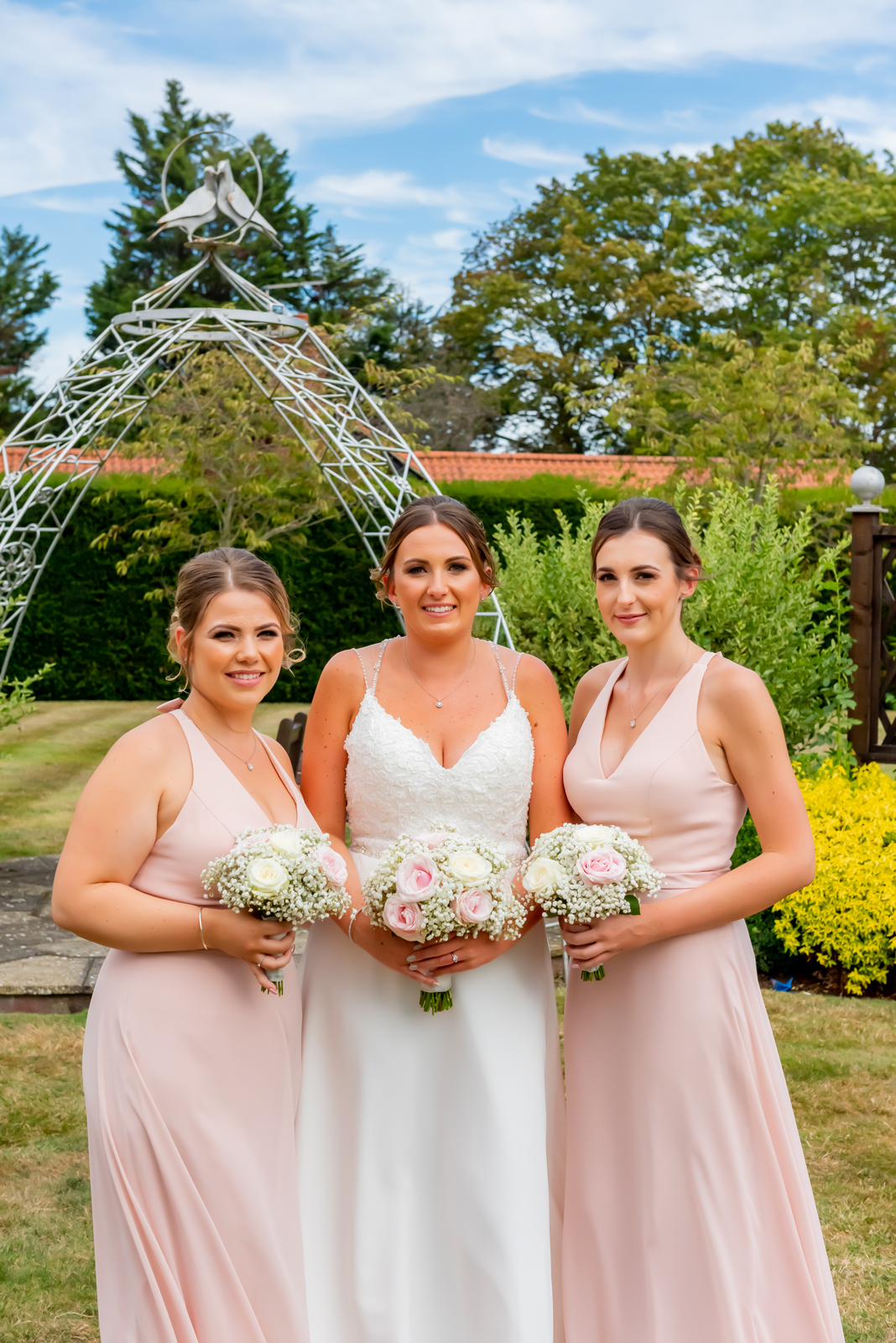 The bride and maids of honour photography