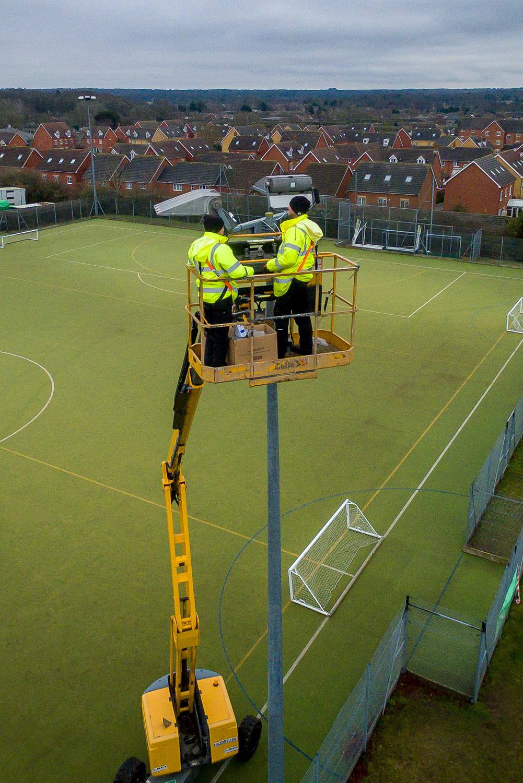 Mannpower at Thetford Sports Centre 2020 Norfolk Drone services suffolk Cambridgeshire
